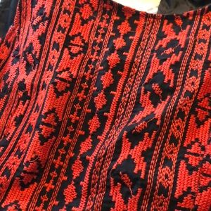 Forever 21 Dresses - Red and Black Embroidered Dress